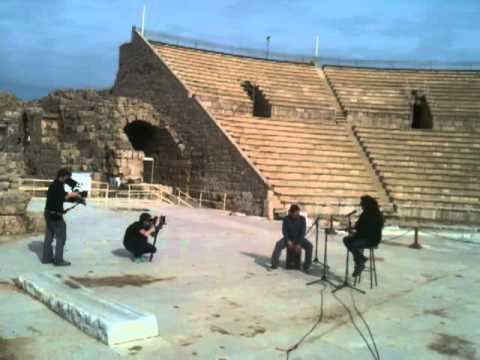 Mosh Ben Ari performing for Music Voyager in the Roman Amphitheater in Caesaria