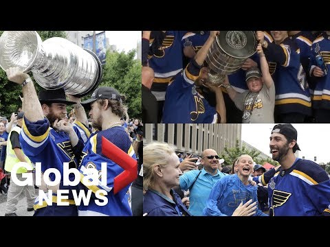 St. Louis Blues superfan Laila Anderson lifts Stanley Cup at Cup parade