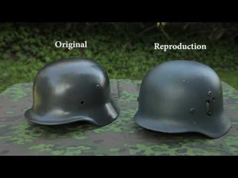 WWII History & Reenacting - Original vs Reproduction German helmet