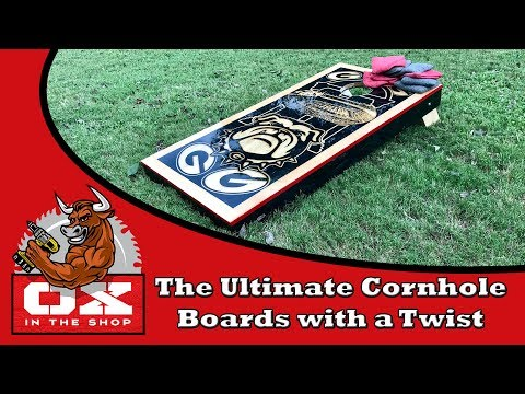 How The Ultimate Cornhole Boards with lights and speakers