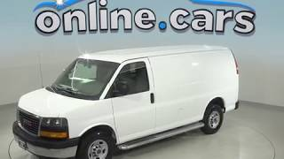 A99160TP Used 2017 GMC Savana 2500 Work Van Cargo Van White Test Drive, Review, For Sale