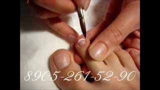 Наращивание ногтей на ногах.wmv