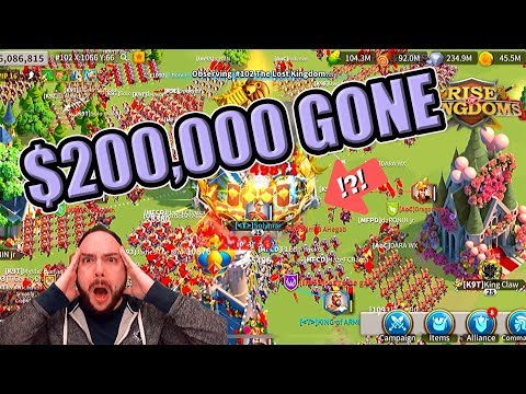Solymar Zero'd: $200,000 WHALE Account DESTROYED In Mobile Game Rise Of Kingdoms