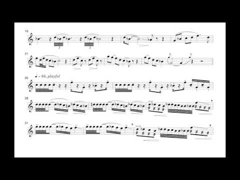 Don Freund's Unwinding the Wind (scrolling score) for Native American Flute