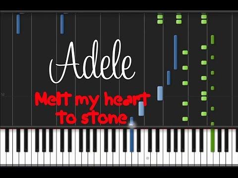 Adele Melt My Heart To Stone Piano Tutorial Youtube