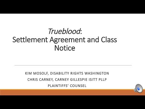 Trueblood: Information and Training on Proposed Settlement