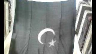 Celebrating 14th August for independence day of pakistan with Big Flag of PK