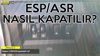 Bu videmuzda Renault Megane 3 model araçlarda ESP ve ASP'nin kapatı...