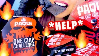 ASMR ONE CHIP CHALLENGE | WORLD'S HOTTEST Carolina Reaper Pepper | Eating Sounds Mukbang