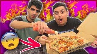 أكلنا أحر و آخطر بيتزا بالعالم 🍕 !!!