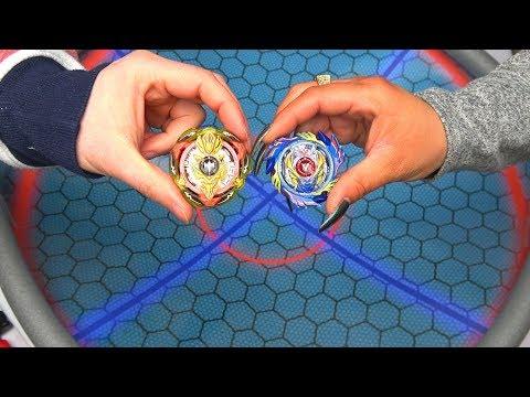 god-valkyrie-vs-screw-trident-|-real-life-anime-stadium-beyblade-burst-evolution/god