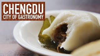 Leaf Wrapped Cake Filled With Pork // Chengdu: City of Gastronomy 25