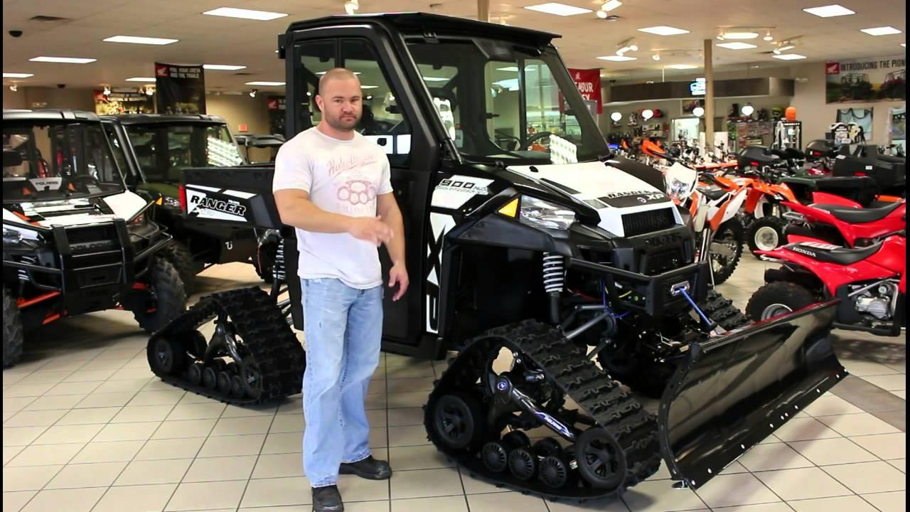 2015 Ranger Xp 900 Eps Le With Tracks And Slowblade Youtube