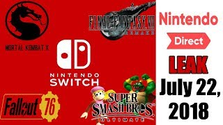 LEAK for Nintendo Direct July 22, 2018 - Real or Fake?