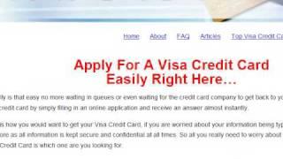 Apply For Visa Credit Card