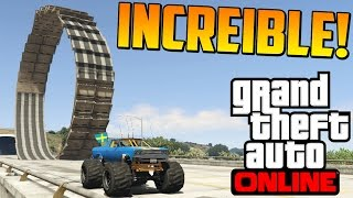 INCREÍBLE!! LOOPING CON MONSTER TRUCK!! - Gameplay GTA 5 Online Funny Moments