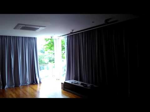 Automated Lifestyle - Bring up Projector Screen + Open Curtains