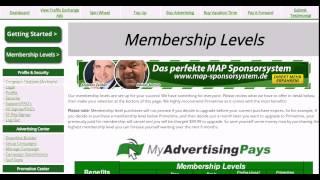 Заработок в интернете - MyAdvertisingPays - работа с Dashboard 1