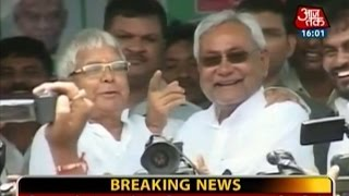 Lalu, Nitish create history by coming together after 20 years