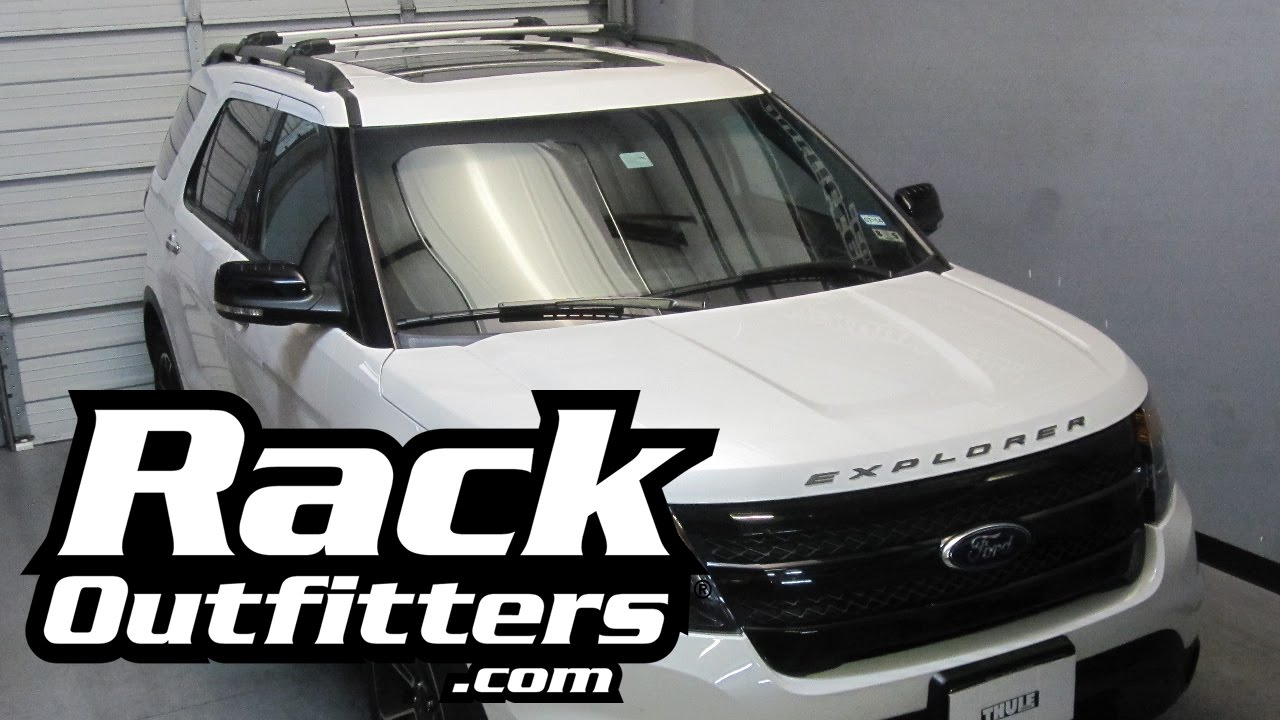 ford explorer thule silver aeroblade edge base roof rack 11 14 by rack outfitters