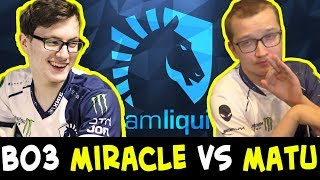 Bo3 MIRACLE vs MATUMBAMAN — who is BEST CARRY in Liquid?