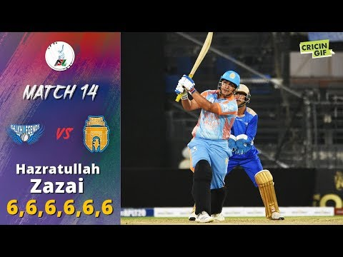 APLT20 2018 M14: Hazratullah Zazai hits 6 Sixes vs Balkh Legends - Afghanistan Premier League T20