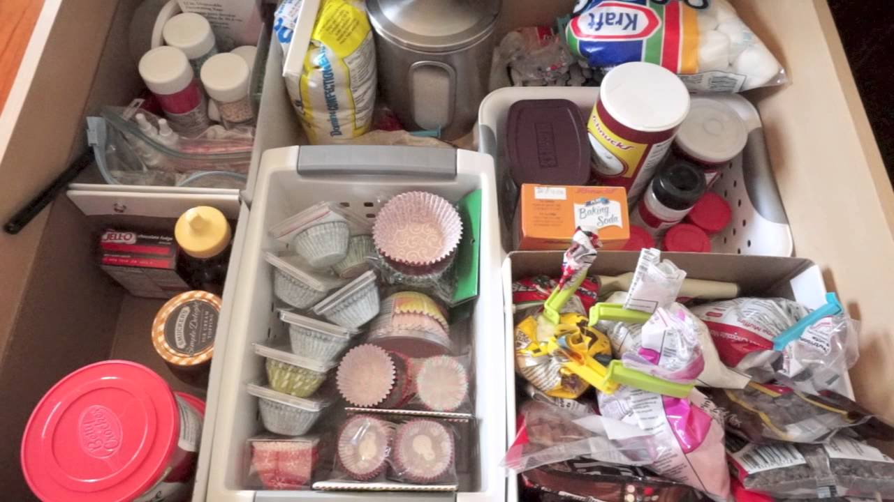 How I Organize My Baking Drawer Supplies Organization Tour