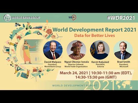 World Development Report 2021: Data for Better Lives