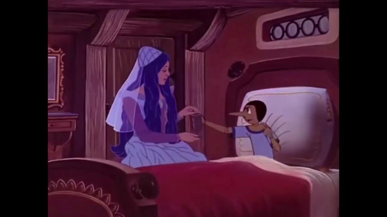 Pinocho no quiere tomar la medicina