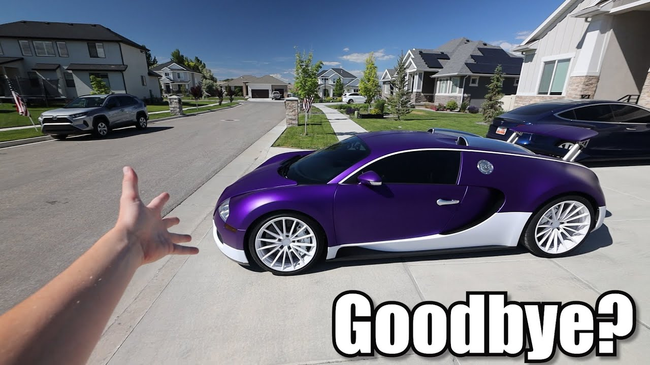 Selling my Bugatti Veyron on Ebay.