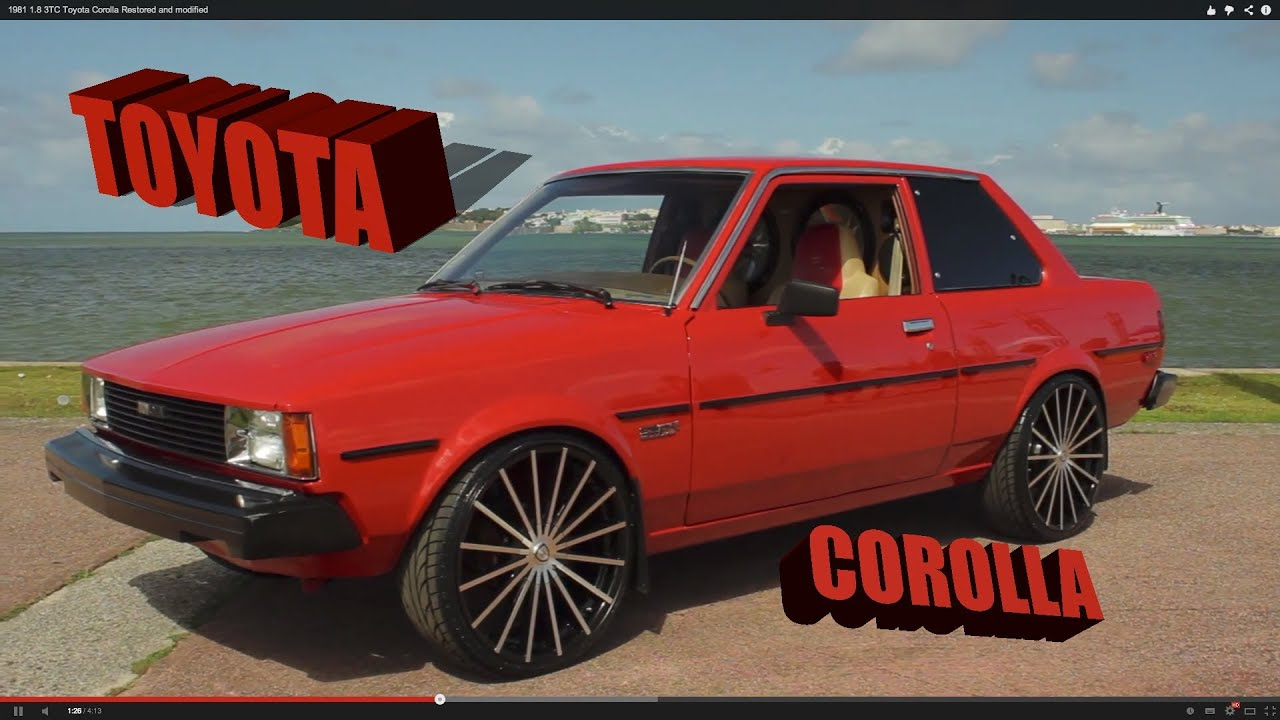1981 1 8 3tc Toyota Corolla Restored And Modified