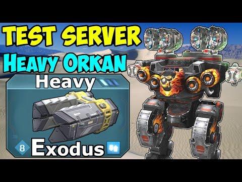 War Robots NEW Heavy Weapon Exodus Test Server Gameplay & More - WR