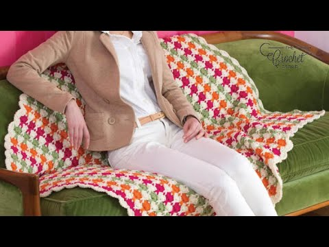 How to Crochet a Blanket: Juicy Fruits Throw
