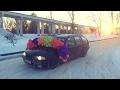 BMW суровый зимний дрифт   дрифтеры неудачники
