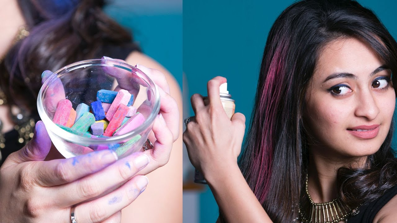 3 Hacks To Colour Your Hair Temporarily Glamrs Hair Secrets Youtube