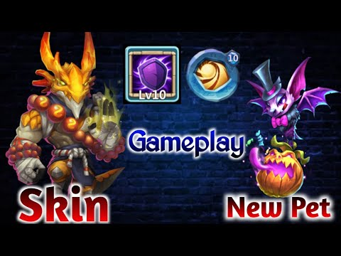 Landwalker | Skin In Action | New Pet(Skill-9) | 10 Silent Cover | 10 SL Insignia | Castle Clash
