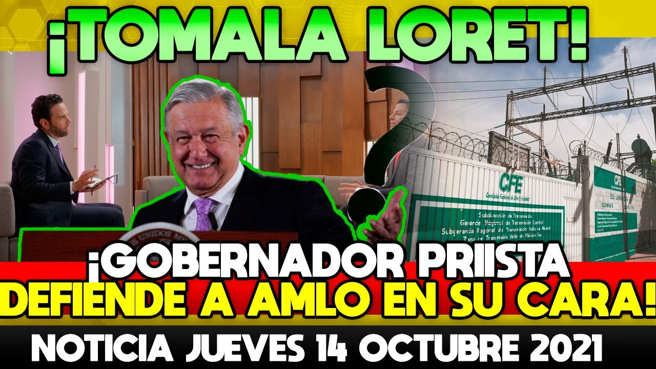 TOMALA LORETITO! GOBERNADOR PRIISTA DEFIENDE AL PRESIDENTE EN PLENA ENTREVISTA EN LATINUS! TOMALA