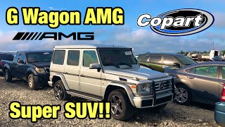 Looking At A Crazy Super Suv Totaled Wrecked 2016 Mercedes-Benz G Wagon AMG At Copart  Auction