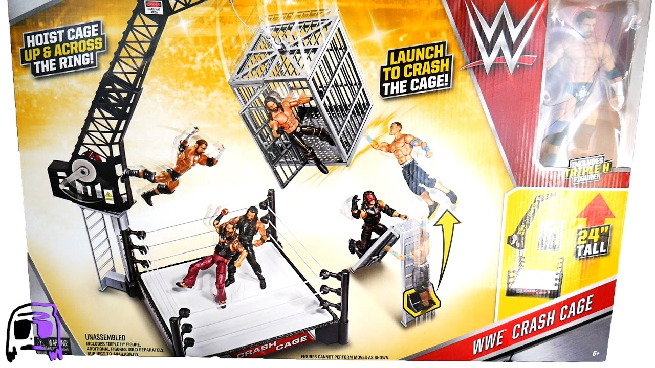 Toys R Us Wwe Rings : Wwe crash cage ring playset with triple h toy toys r us