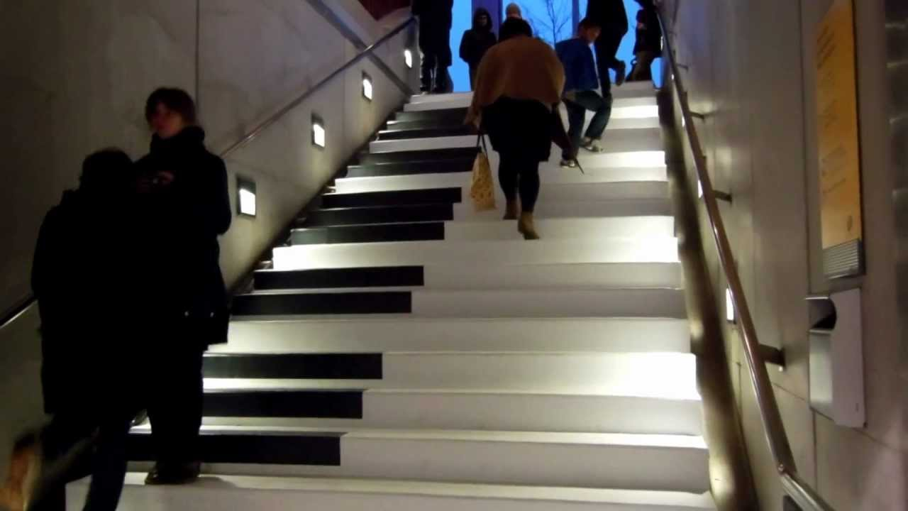 Piano Stairs Metro Charles De Gaulle Rennes Fevrier