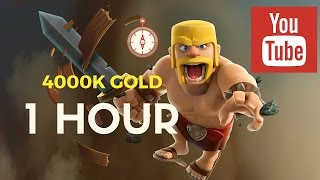 Clash of Clans | 4 million Gold in 1 Hour | Journey from Crystal to Silver | Barch complications