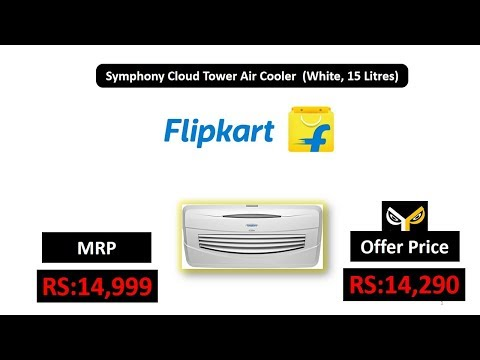 Symphony Cloud Tower Air Cooler  (White, 15 Litres)