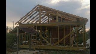 Шаг №10. Стропила и свес крыши, каркасного дома. Сращивание стропила (удлинение).