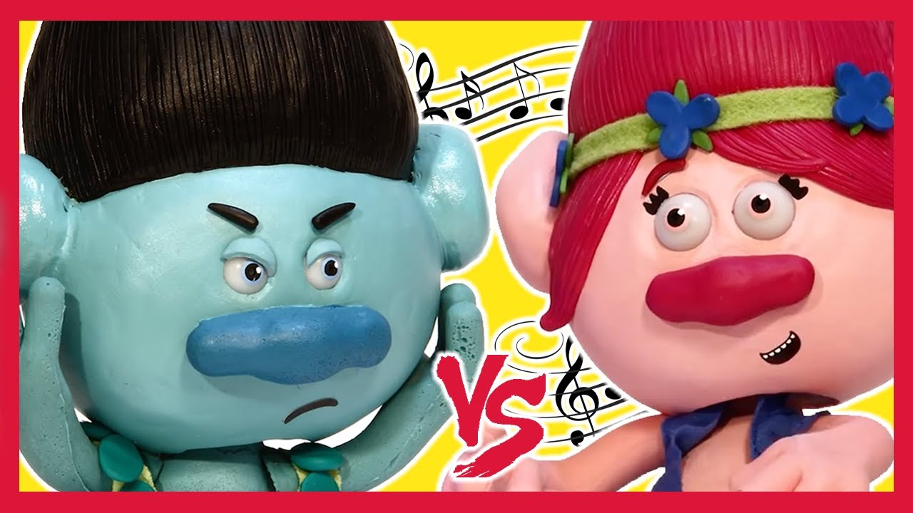 No No Toys : Branch vs princess poppy 🎼 no more dancing ☠ trolls battle