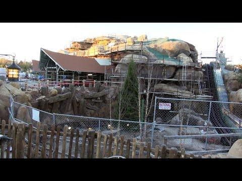 NEW 1/19/14 Update SEVEN DWARFS MINE TRAIN COASTER Ride CONSTRUCTION - Over The Wall - Disney World