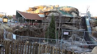 NEW 1/19/14 Update SEVEN DWARFS MINE TRAIN COASTER Ride CONSTRUCTION - Over The Wall - Disney World