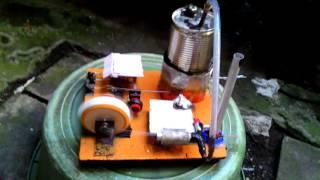 Mesin uap sederhana dr barang bekas/ homemade steam engine part 2