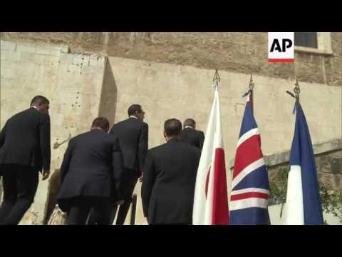 US treasury secretary arrives at G7 meeting