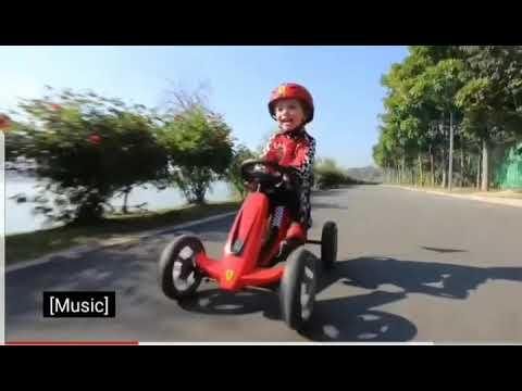 GO kart Ferrari kids play kart pedal toy cart cu pedale