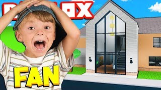 ROBLOX I made MY FAN a BLOXBURG MANSION!!